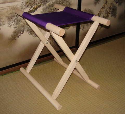 角太足胡床白木紫布