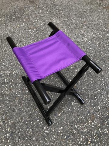 角太足胡床黒塗紫布