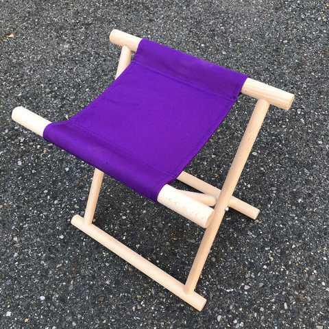 丸足胡床白木紫布