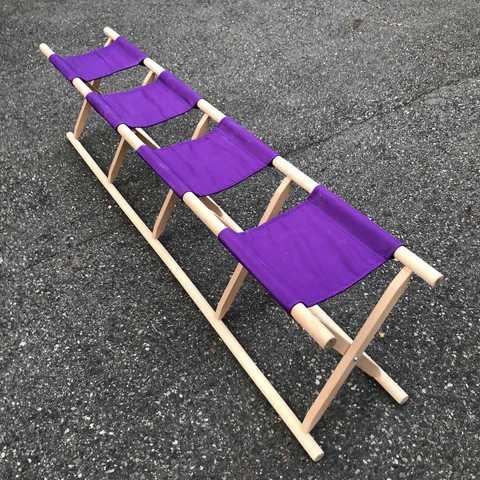 4人掛胡床白木紫布