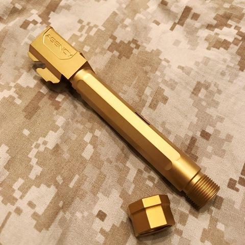 RWA マルイG17用 Agency Arms サイレンサー対応アウターバレル(チタン)