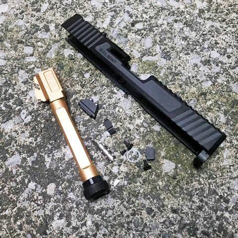 EMG マルイ G17用 SAI RMRカットスライドキット Goldバレル(M14逆)