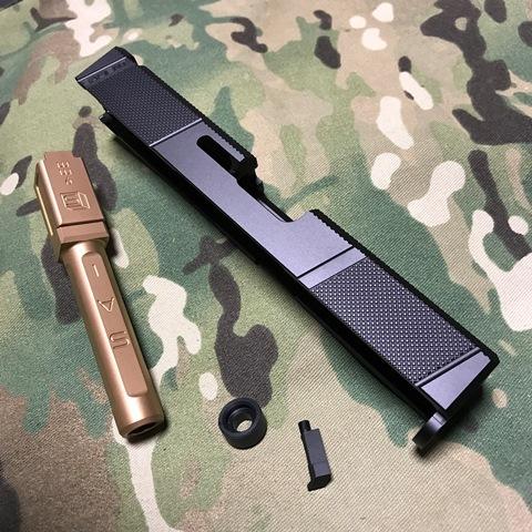 GunsModify マルイG19用SAI Utility スライドキット ローズゴールドバレル