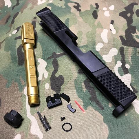 EMG マルイG17用 SAI Utility スライドキット Goldバレル(M14逆)