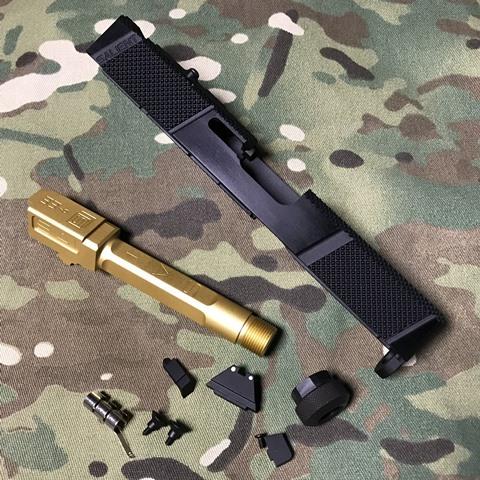 EMG Umarex G19 Gen3用 SAI Utility スライドキット Goldバレル(M14逆)