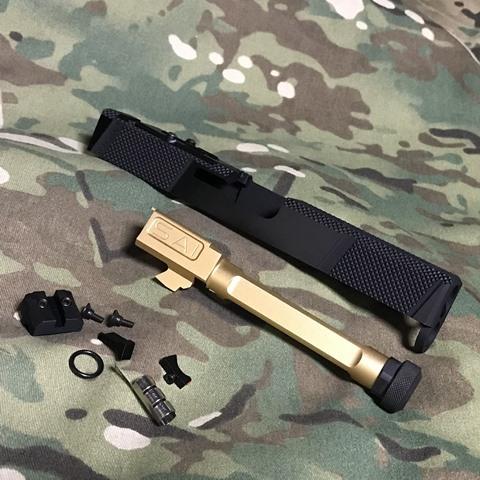 EMG Umarex G17 Gen4用 SAI Utility RMRカットスライドキット Goldバレル(M14逆)