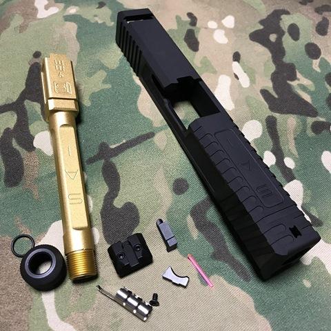 EMG Umarex G17用 SAI スライドキット Goldバレル(M14逆)