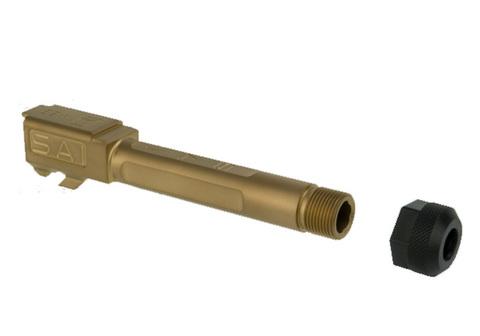 GunsModify マルイG19用(SAI/ローズゴールド)ボックスフルートバレル(14mm逆)