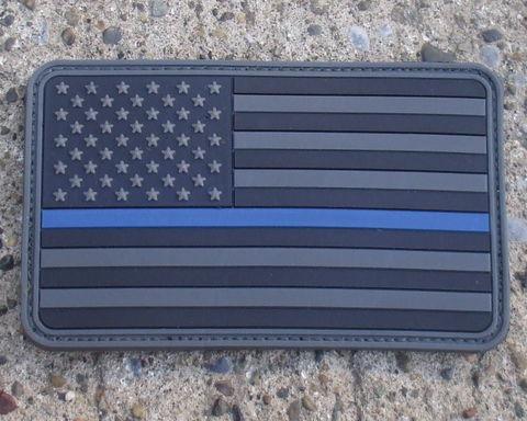 COMBAT-Swag THIN BLUE LINE Flag PVC