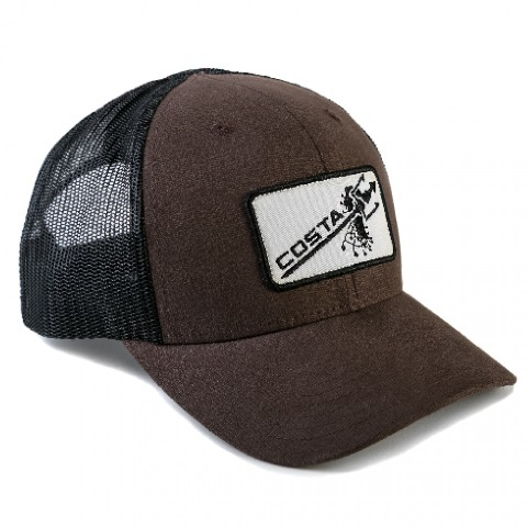 Costa Twill/Patch Trucker Hat  Brown/Black