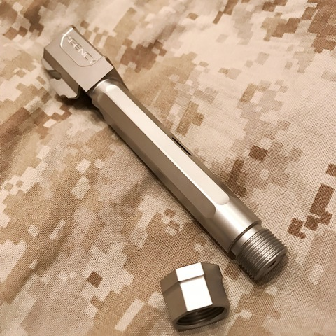 RWA マルイG17用 Agency Arms サイレンサー対応アウターバレル(シルバー)