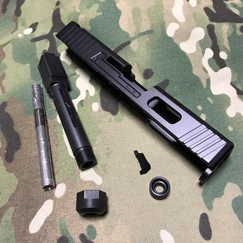 GunsModify マルイG19用SAI Tier1 スライドキット ブラックバレル(M14逆)
