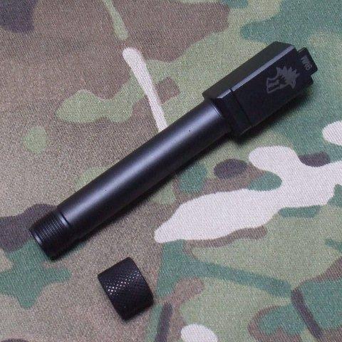 TAC ELEMENT KJ G19対応サイレンサー用アウターバレル LW刻印 正ネジ