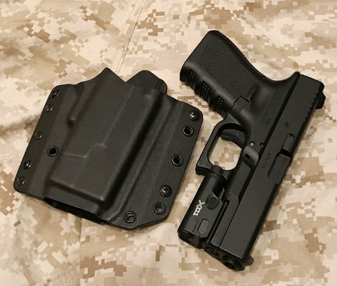 RCS  G19/XC1 ファントム・ライト・ホルスター  RMR / SHORT SHIELD Black