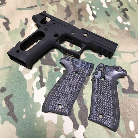 PGC マルイP226E2用P226Rフレーム& Houge ピラニアグリップ セット