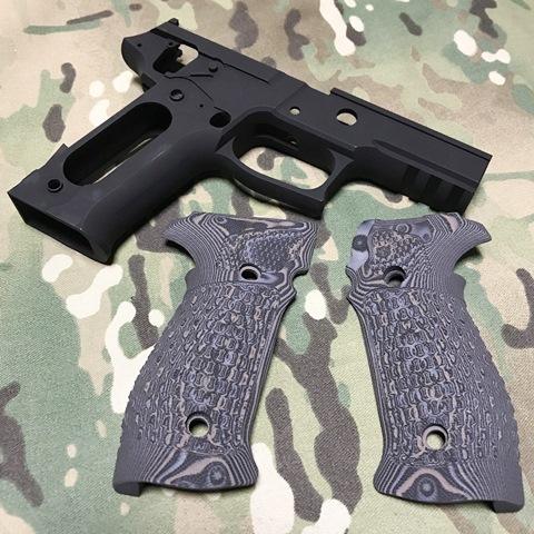 PGC マルイP226E2用P226Rフレーム& Houge マグリップ セット