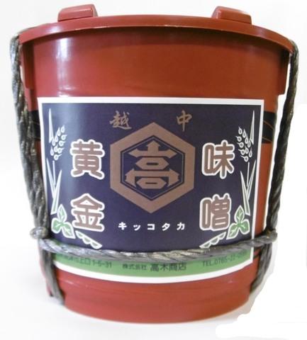 黄金味噌(つぶ)1.8㎏ 樽入