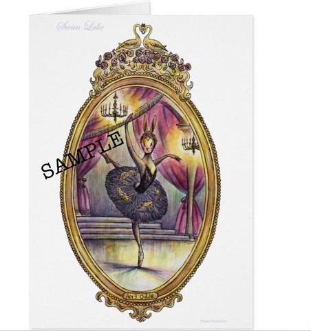 スワンレイク ノートカードセット C(4枚入り)