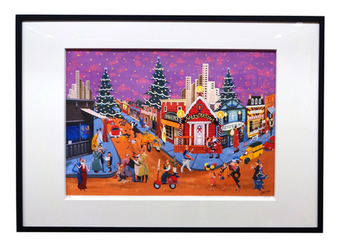 額絵:星空の奇麗なクリスマス(小)