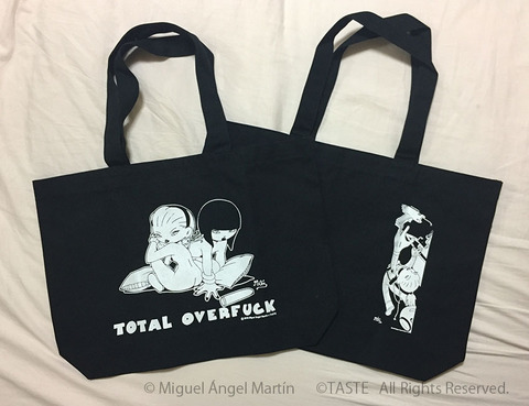 TOTAL OVERFUCK GIRLS TOOT トートバッグ
