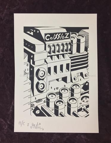 M.A.Martín Silk Screen Print - Co/SS/gZ<<TORTURE SOUND SYSYEM>>