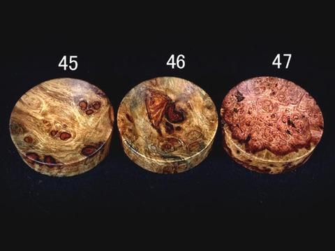 フックソーサー2019ver.(小物用小皿)- 1946●花梨瘤橙白