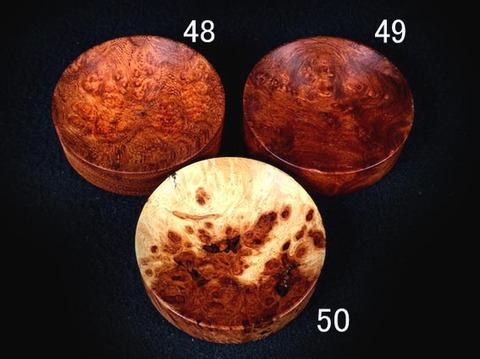 フックソーサー2019ver.(小物用小皿)- 1949●花梨瘤紅