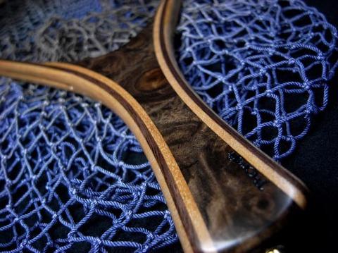 手編みネットの染色(グラデーション)大型鱒族用サイズ