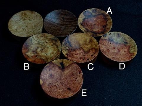 フックソーサー2019ver.(小物用小皿)- 1913●花梨瘤橙白E
