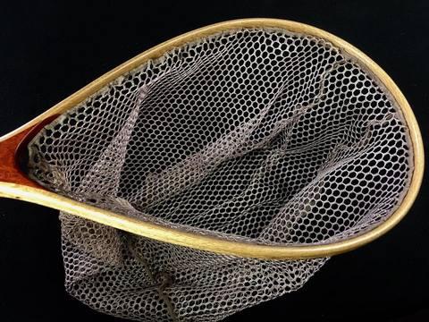 スペアーメッシュ(C&R)ネット(未染色/ポリエステル)●深さ27センチ用/枠内周65センチ