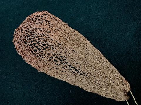 スペアー手編みネット09(染色済み/クレモナ) ●35目深さ27センチ