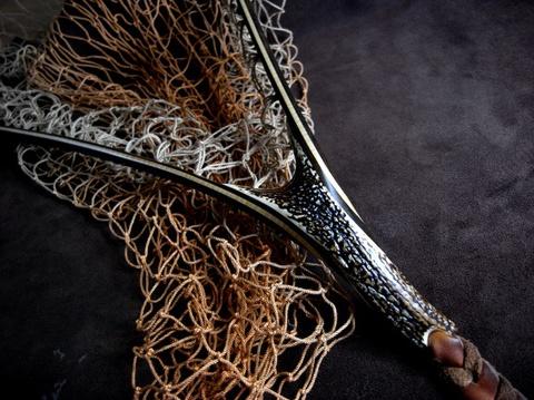 手編みネットの染色(グラデーション)渓流用サイズ