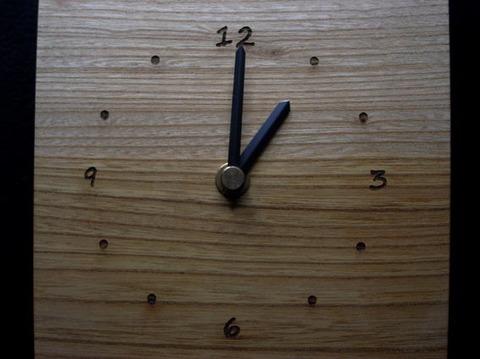 銘木時計 ●ケヤキ 001