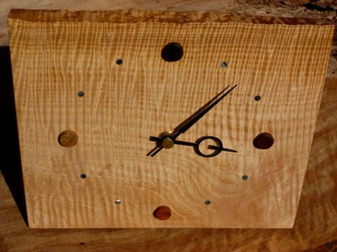銘木時計 ●栃縮み杢 限定品最終在庫