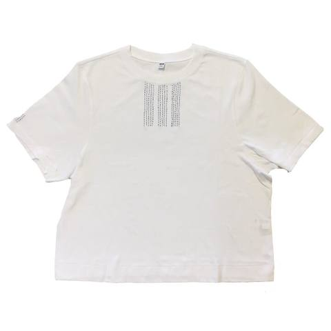ヨシカワサトル 『ブルーステッチストライプ刺繍T』