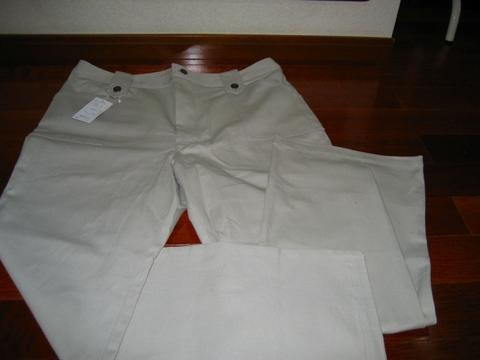 96cm生成りホワイトジーンズ