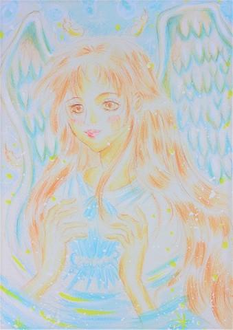 クリスタルの天使 アート(原画)