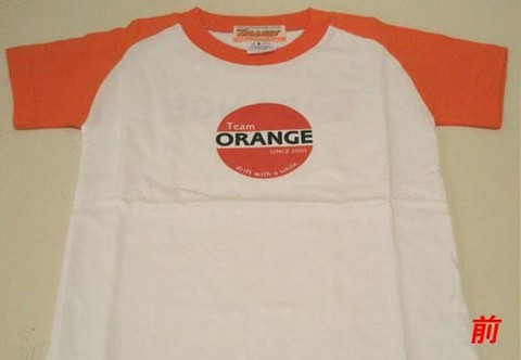 Tシャツ(ホワイト×オレンジ/KIDS)#ORG0019