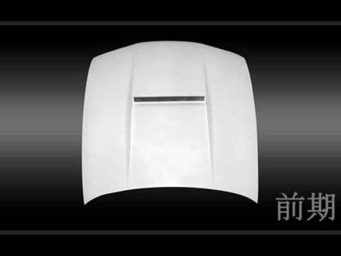 SILVIA S14 エアロダクト付ボンネット カーボン UVカットクリア塗装