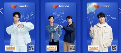 Lazada Rabbit Card Brigth Win(3枚セット)《eパケット代込》