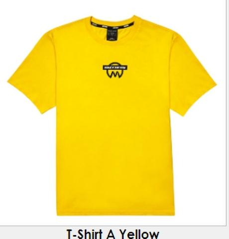 《書留送料込》SkechersXMewSuppasit Tシャツ イエロー XLサイズ