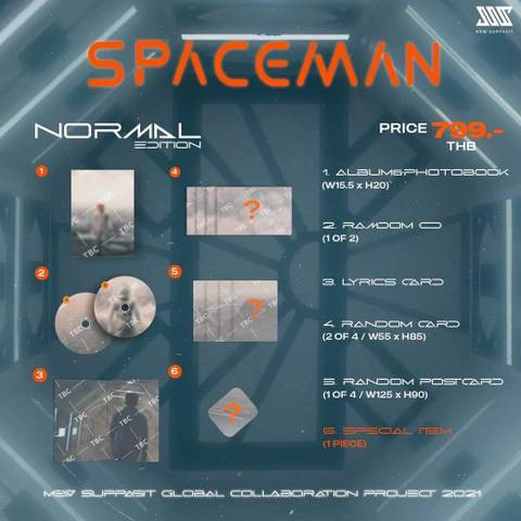 Mew Suppasit: SpaceMan (Normal Edition) First press《eパケット送料込》