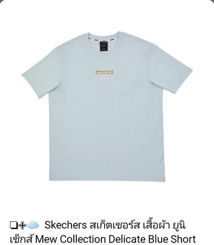 SkechersXMewSuppasit Tシャツ ブルー Lサイズ《eパケット送料込み》