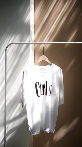 《書留付き送料込み》Ctrl+s Tシャツ ホワイト フリーサイズ