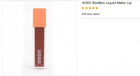 《エアメール代込》XOXO BONBON LIQUID MATTE LIP(SAINT使用色)