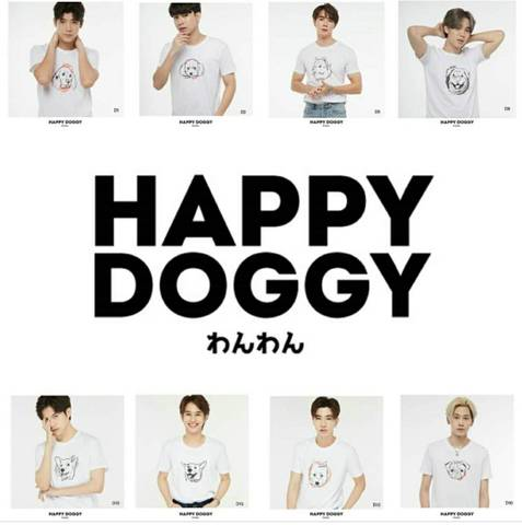 《eパケット代込》HAPPY DOGGY Tシャツ