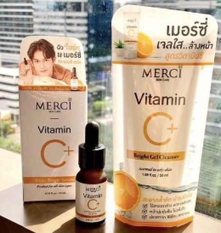 MERCI VITAMIN C Extra Bright Serum+ VITAMIN C Gel Cleanser《eパケット代金込み》