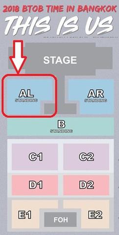 【スタンディング AL】BTOB コンサート タイバンコク公演