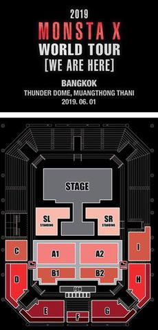 【次価格B1/B2】MONSTA X  タイバンコク公演