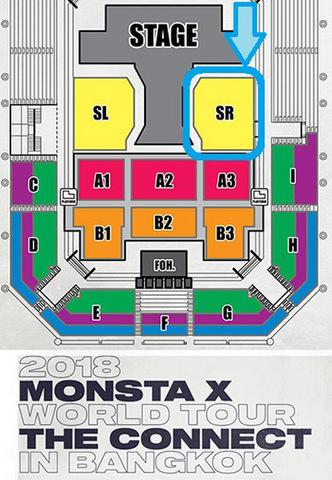 【アリーナスタンディングSR】MONSTA X 2018 タイバンコク公演